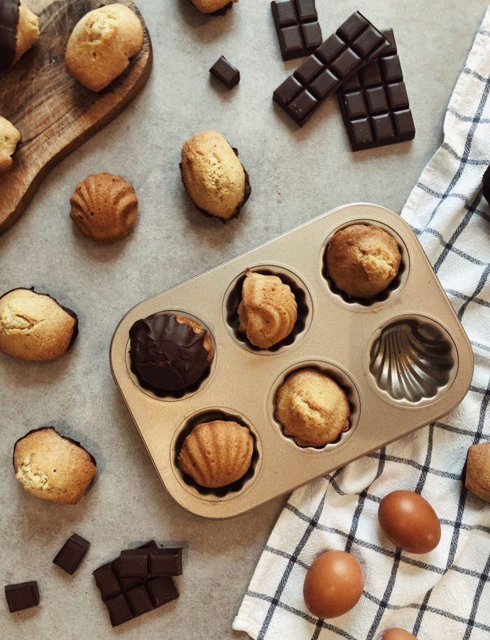 MADELEINES AVEC LA COQUE EN CHOCOLAT